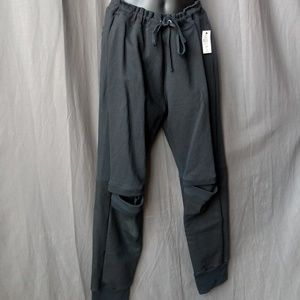 Drifter Cut out Knee Sweat Pants Draw String 2XL